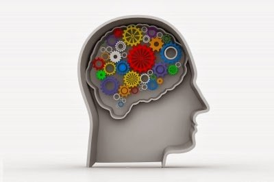 graphic image of the brain as cog wheels - Achieving Happiness