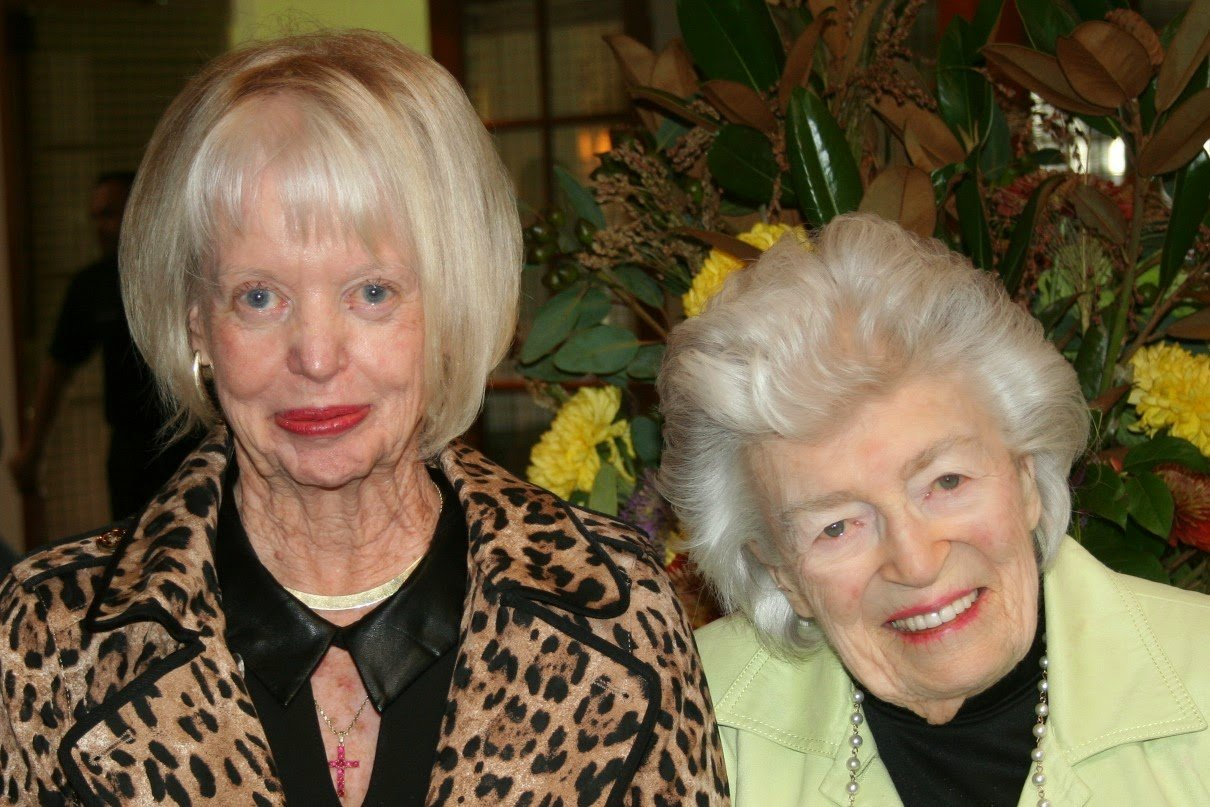 Pattie Welborn with Doris Howell