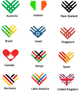 Giving Tuesday country logos