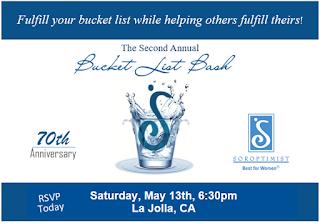 International Soroptimist of La Jolla - Bucket List Bash Meeting Invitation