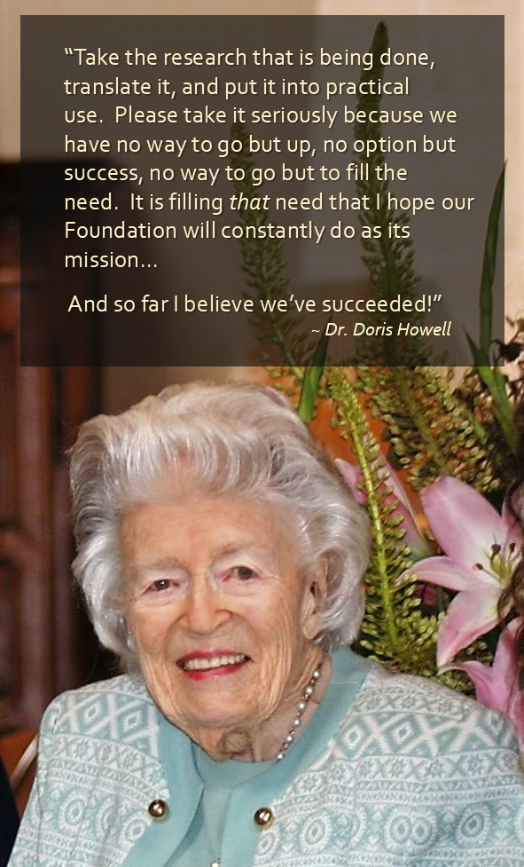 Dr. Doris Howell, Mother of Hospice, quote