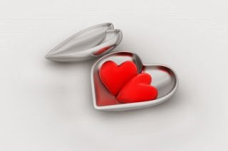 graphic of hearts in a locket