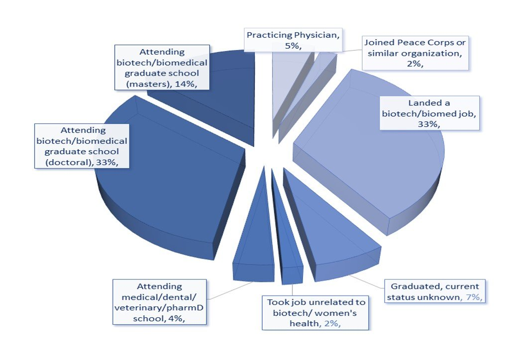 Howell CSUPERB Scholarships recipients and their backgrounds pie chart