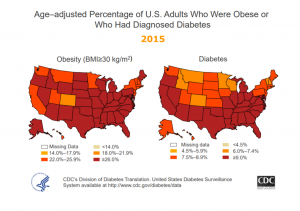 Diabetes Management Chart - Percent of US that is Obese